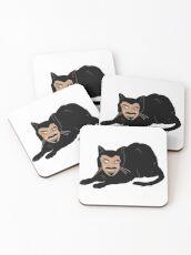Vlad the Cat (Gray) Coasters