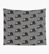 Vlad die Katze (Grau) Wandbehang