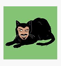 Vlad the Cat (Green) Photographic Print