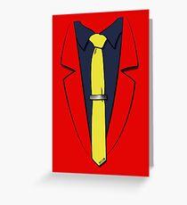 Lupin III's suit Greeting Card