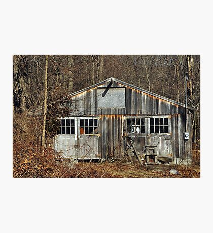 The Old Garage  Photographic Print