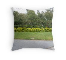Yellow Bushes Throw Pillow