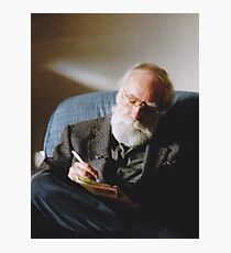 Father (Christmas 2006, North Saanich, Vancouver Island, British Columbia, Canada) Photographic Print