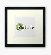 Nature logotype Framed Print