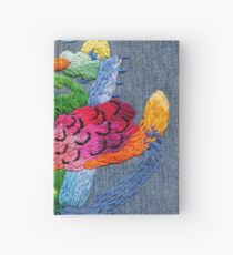 abstract embroidery Hardcover Journal