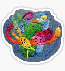 abstract embroidery Sticker