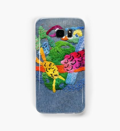 abstract embroidery Samsung Galaxy Case/Skin