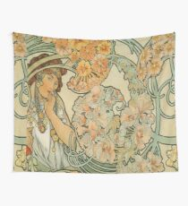 Alphonse Mucha, Vintage Wall Tapestry
