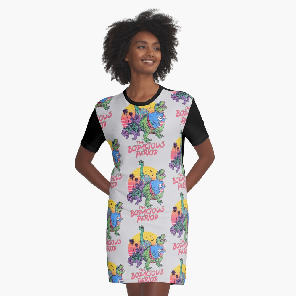 The Bodacious Period Graphic T-Shirt Dress