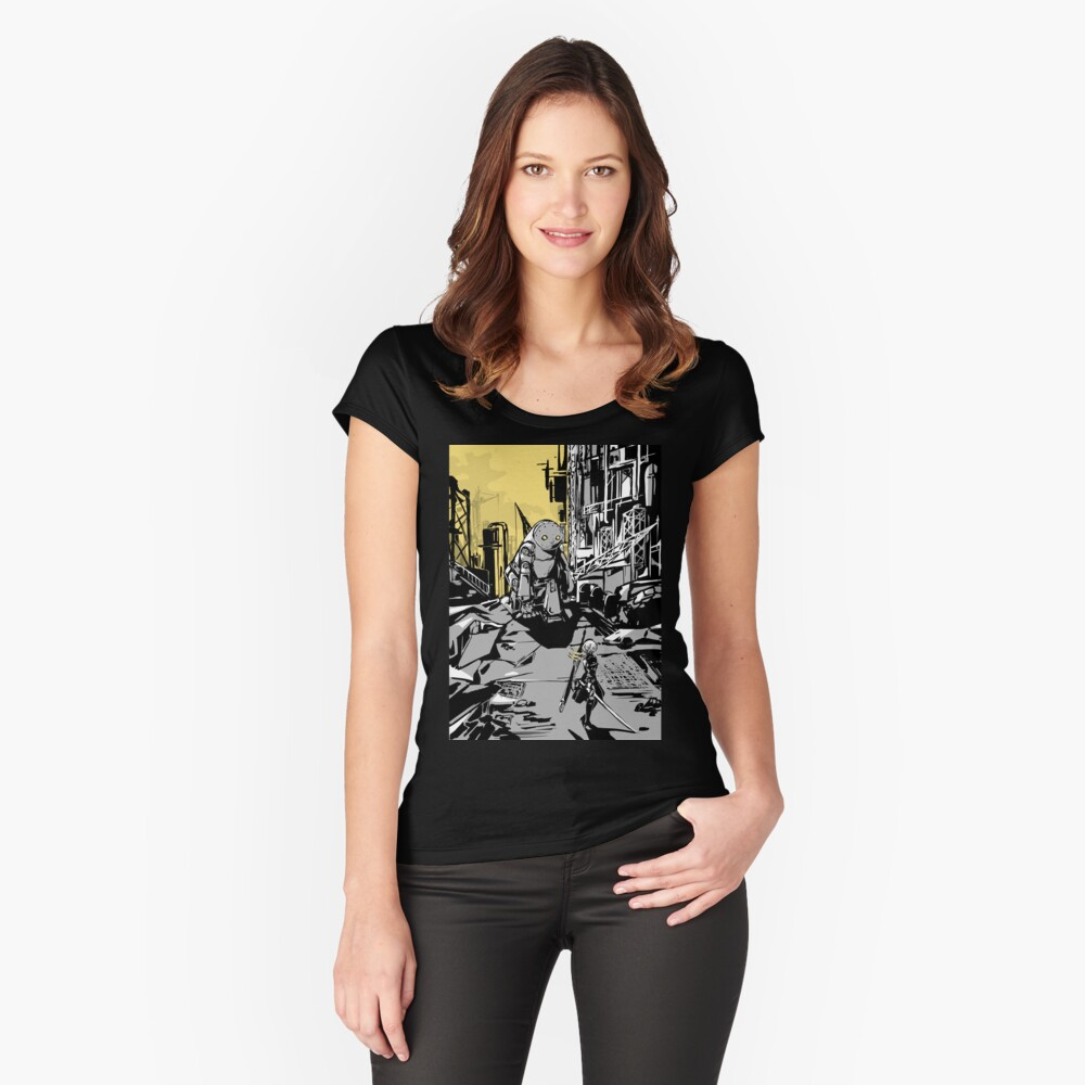 NieR: Automata Women's Fitted Scoop T-Shirt Front
