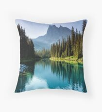 Emerald Sunshine Throw Pillow