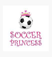 Soccer Princess Photographic Print