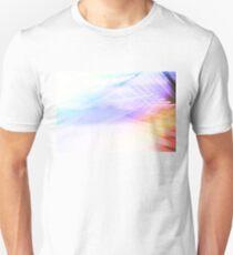 Abstrakte farbenfrohe Palmen Blätter im Sonnenlicht T-Shirt