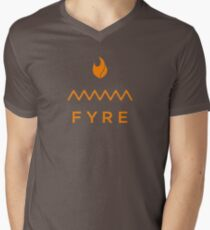 Fyre-Fest T-Shirt mit V-Ausschnitt für Männer
