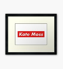 Kate Moss - Supreme Red Framed Print