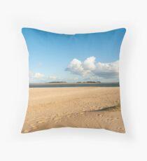 Wells-next-the-Sea beach. Throw Pillow