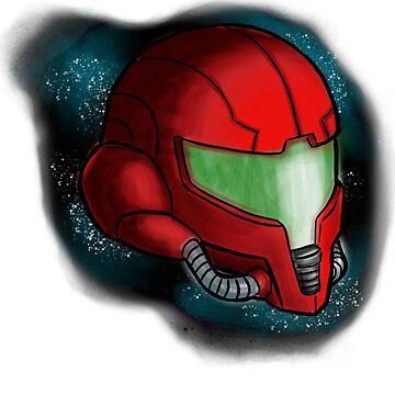 Samus helmet by Bloodywings