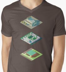 Three Centennial Projects #1 Men's V-Neck T-Shirt