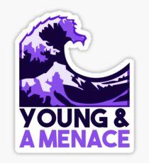 Emoji Wave Logo Sticker