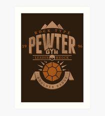 Pewter Gym Art Print