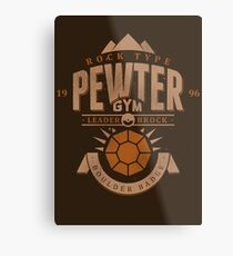 Pewter Gym Metal Print