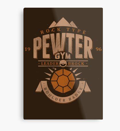 Pewter Gym Metal Print