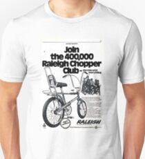 'Raleigh Chopper Club' Advert. Unisex T-Shirt