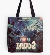 Aliens Japanese Poster Tote Bag