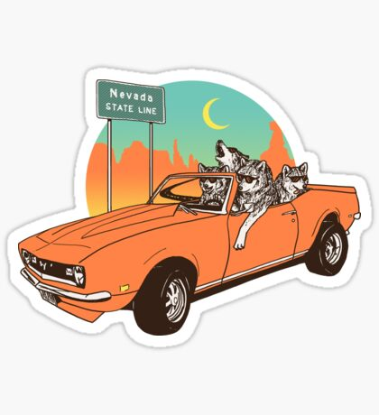On The Prowl Sticker