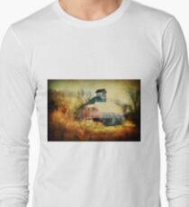 Autumn Nebraska Barn Long Sleeve T-Shirt