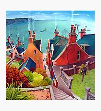 Sea houses. Gardenstown. Photographic Print