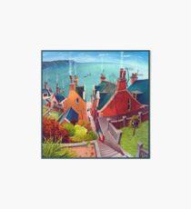 Sea houses. Gardenstown. Art Board Print