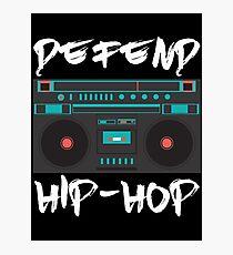 defend hip-hop rap boombox design Photographic Print