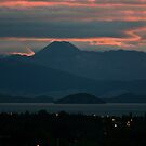 Sunset over Lake Taupo by Jodi Webb