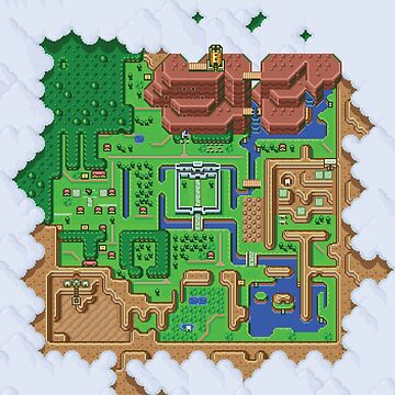 Hyrule Map: Zelda Link to the Past by vulgaris1901