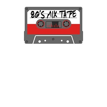 Eighties Mix Tape Cassette T-Shirt by ridethewave