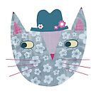 Flowery Cat in a Flowery Hat by Nic Squirrell