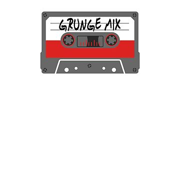 90's Grunge Mix Tape Cassette T-Shirt by ridethewave