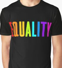 EQUALITY RAINBOW GAY  Graphic T-Shirt