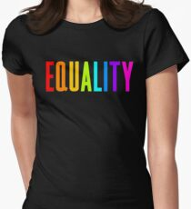EQUALITY RAINBOW GAY  Women's Fitted T-Shirt