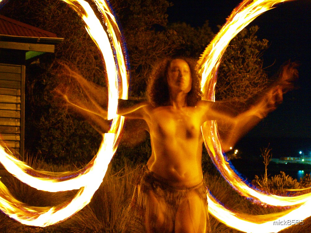fire twirler # 4 (four fires) by mick8585