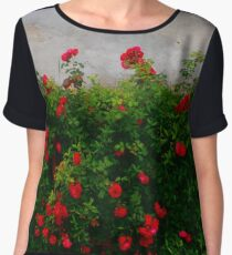 Roses in my grandma's garden Women's Chiffon Top