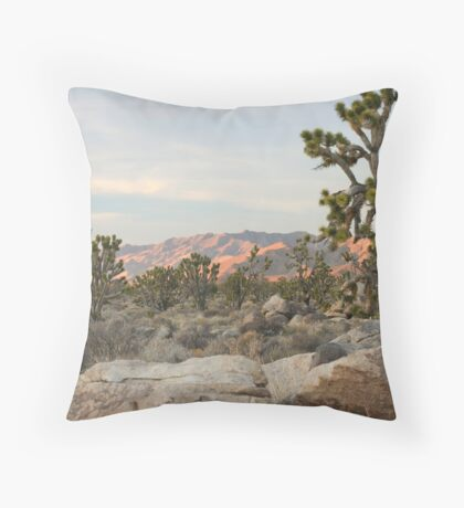 Clark Mountain Alpenglow Throw Pillow