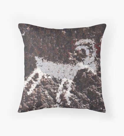 Avikwame petroglyph Throw Pillow