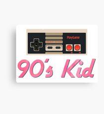 90's Kid NES Canvas Print