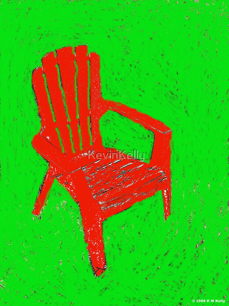 Red lawn chair by KevinKelly