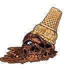 Chocolate Death Cone - Ice Cream Skull by DeadMonkeyShop