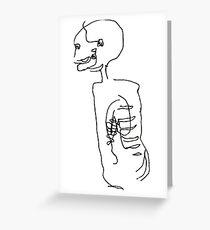 Skeletal Sketch Greeting Card