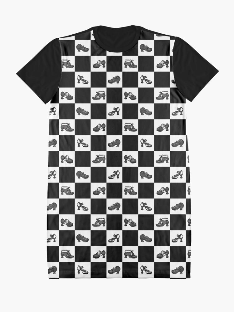 Alternate view of Fluevog BW Checker Pattern Graphic T-Shirt Dress