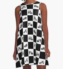 Fluevog BW Checker Pattern A-Line Dress